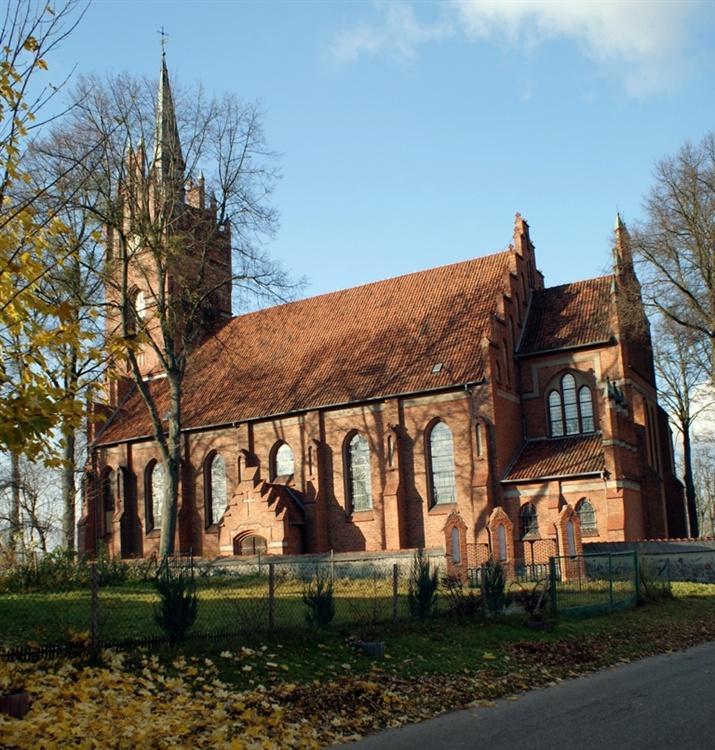 Sętal Neogotycki kościół św. Mikołaja (1910) - km_nida
