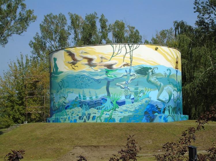 Owicz mural w parku na b oniach atrakcje turystyczne for Mural legionowo